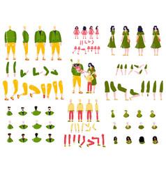 Constructor animation kit family set creation kit vector