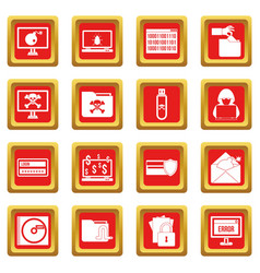 criminal activity icons set red vector image