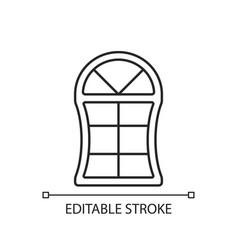 custom windows linear icon vector image