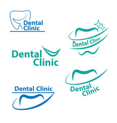 Dental logo designcreative dentist logo dental vector