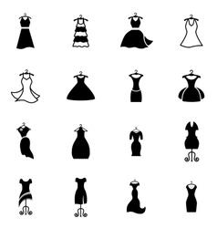 Dress on a hanger vector image