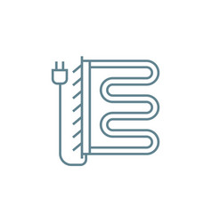 Electric heated towel rail linear icon concept vector