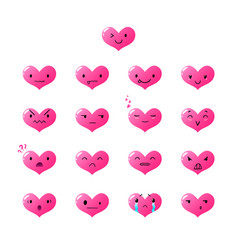 Emoticons heart gradient 2 vector