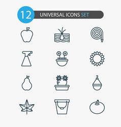 Farm icons set collection of sprinkler duchess vector