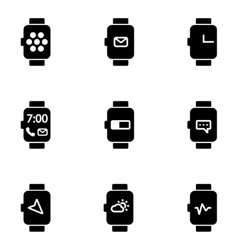 flat smart watch icon vector image