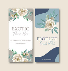 Floral ember glow flyer design with anemone vector
