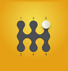 Gearbox isolated minimal icon transmission line vector