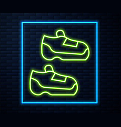 Glowing neon line fitness sneakers shoes for vector