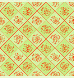 Green and orange seamless chess styled vintage vector