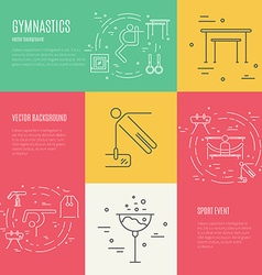 Gymnastics Concept vector