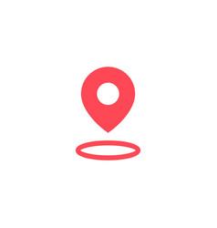 halo pin secure location logo icon vector image