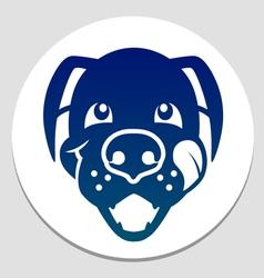 happy fed dog symbol vector image