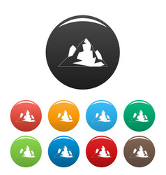 iceberg icons set color vector image