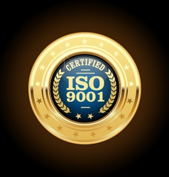 ISO 9001 standard medal - quality management vector
