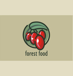 logo design forest food self-sown vector image