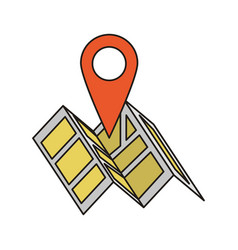 map and location pin symbol vector image