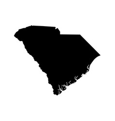 Map of the us state of south carolina vector