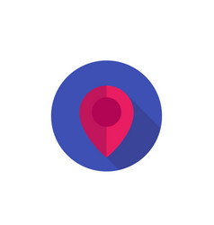 Map pointer pin location icon on white vector
