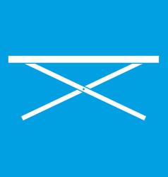 Market counter icon white vector