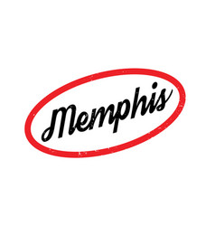 Memphis rubber stamp vector