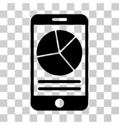 Mobile Report Icon vector image