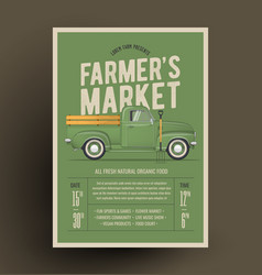Old style farmers pickup vector