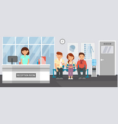 reception room at clinic flat vector image