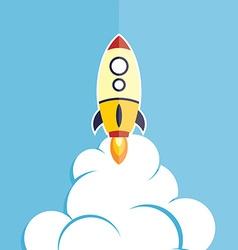 Rocket ship launch vector