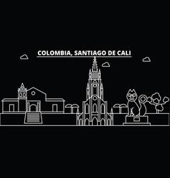 Santiago de cali skyline colombia - santiago de vector