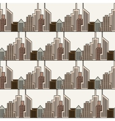Seamless city background vector image