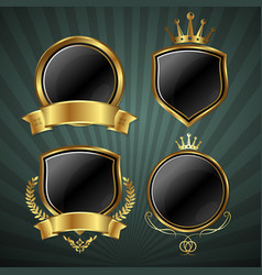 set of coats of arms vector image