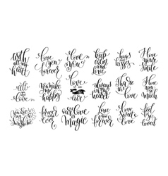 set of handwritten lettering positive quote about vector image