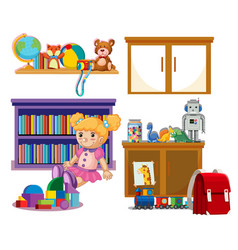 set of kid toys vector image