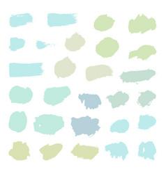 set pastel paint brush objects vector image