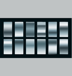 shiny steel or silver gradients set in matte vector image