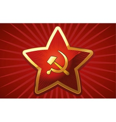 soviet red star vector image