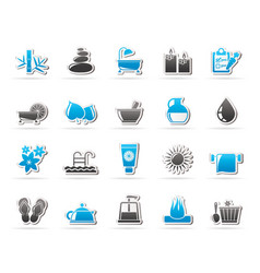 Spa beauty and body care icons vector