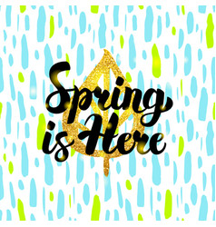 Spring is here handdrawn design vector