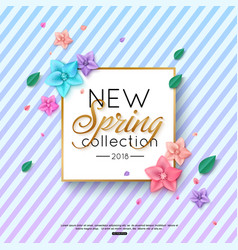spring new collection background decorated vector image
