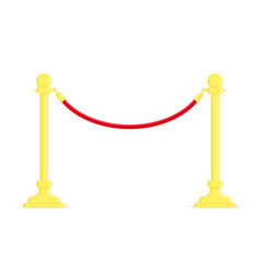 Stand rope barriers vector