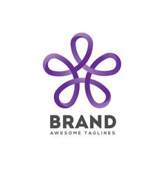 star ribbon logo vector image