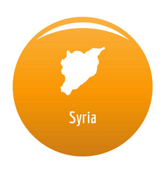 Syria map in black simple vector