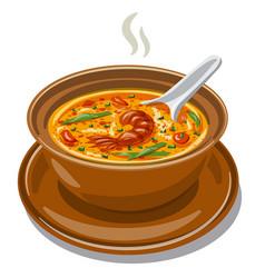 Tom yum soup vector