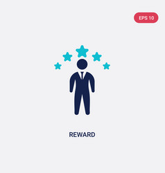 Two color reward icon from crowdfunding concept vector