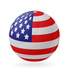 Us flag in the shape of a ball icon isolated vector