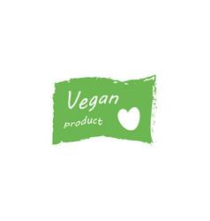 vegan lettering stamp vector image