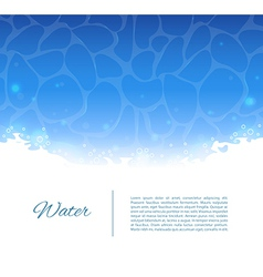 Water template vector image