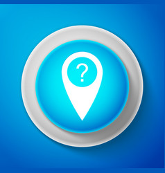 white map pointer with question symbol icon vector image