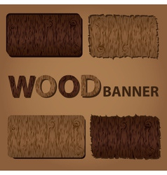 Wood texture banners eps10 vector