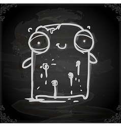 wounded creature drawing on chalk board vector image